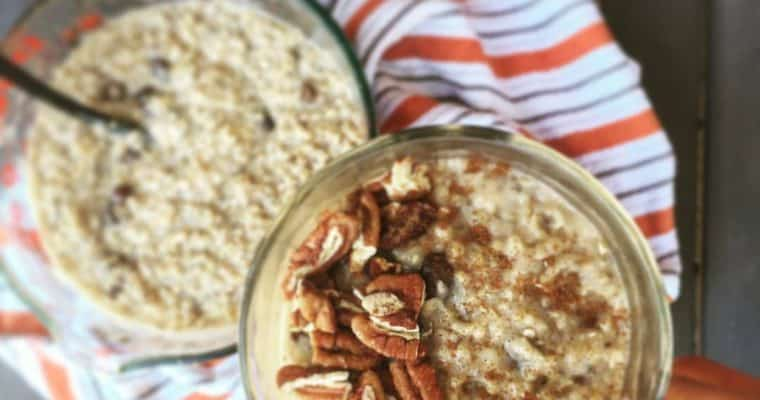 Overnight Maple Raisin Steel-Cut Oatmeal