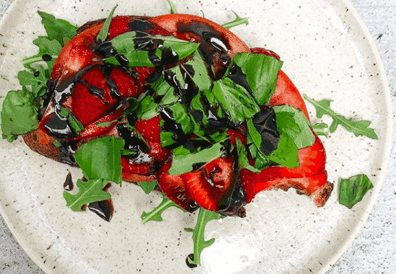 Strawberry Tomato Basil Toast
