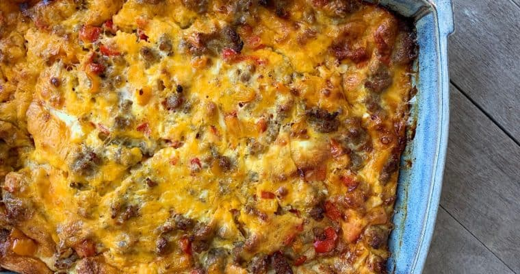 Western Breakfast Casserole (for a crowd)