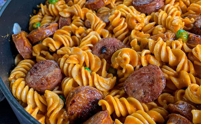 red pepper pasta: 2 new meat editions!