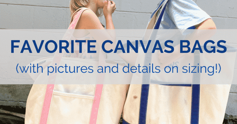 My Favorite Canvas Bags