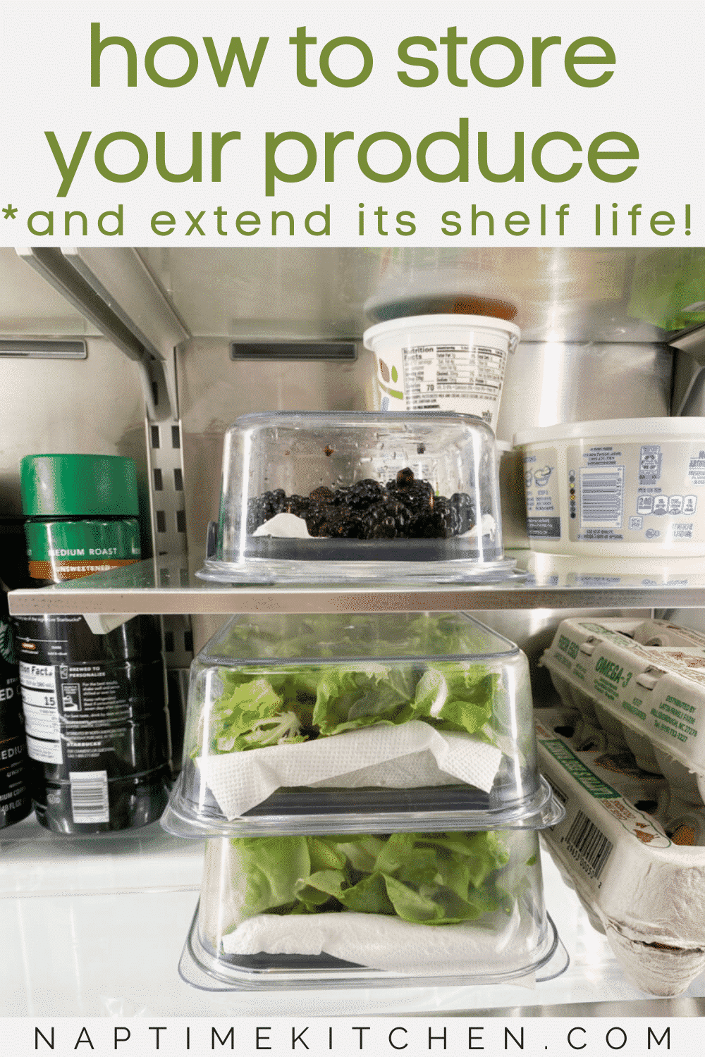How to Store Produce (Berries & Greens)